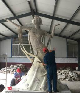 青州花博会做的主题雕塑